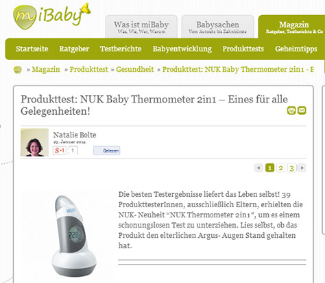 NUK Baby Thermometer 2in1 im miBaby-Test