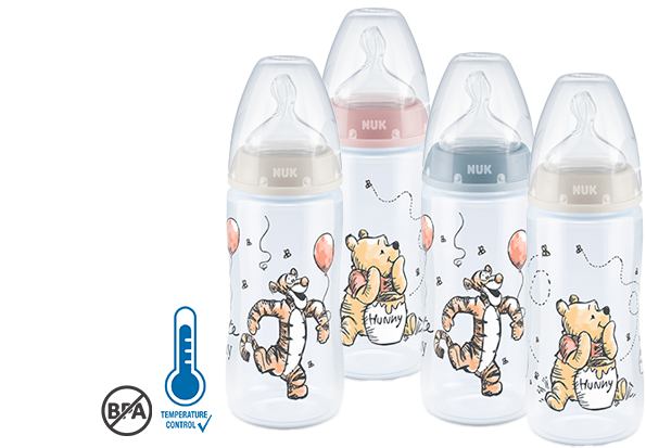 NUK Disney Winnie Puuh Babyflasche mit Temperature Control