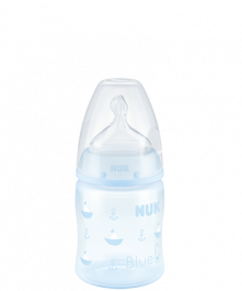 NUK First Choice Plus Baby Rose & Blue Babyflasche mit Trinksauger