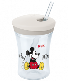 NUK Disney Mickey Action Cup 230ml mit Trinkhalm