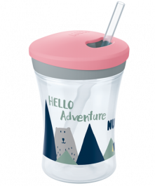 NUK Hello Adventure Action Cup 230ml mit Trinkhalm