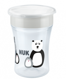 NUK Monochrome Animals Magic Cup 230ml mit Trinkrand