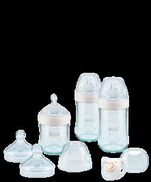 NUK Nature Sense Glasflaschen Set mit Softer-Trinksauger