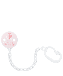 NUK Baby Rose & Blue Schnullerkette