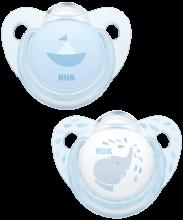NUK Trendline Baby Rose & Blue Schnuller