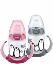 NUK Monochrome Animals First Choice Trinklernflasche Duo Set