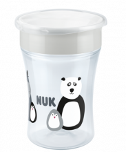 NUK Monochrome Animals Magic Cup 230ml mit Trinkrand