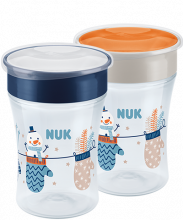 NUK Snow Magic Cup 230ml mit Deckel 2er Set