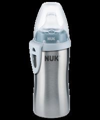NUK Active Cup Edelstahl 215ml mit Trinktülle