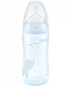 NUK First Choice Plus Baby Rose & Blue Babyflasche mit Temperature Control