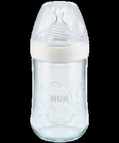 NUK Nature Sense Glas-Babyflasche mit Softer-Trinksauger