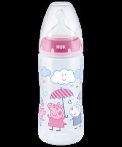 NUK Peppa Pig First Choice Plus Babyflasche 300ml mit Temperature Control