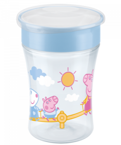 NUK Peppa Pig Magic Cup 230ml mit Trinkrand und Deckel
