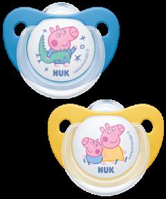 NUK Peppa Pig Trendline Silikon-Schnuller