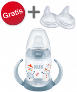 NUK Snow First Choice Trinklernflasche 150ml inkl. 2er Pack Trinktüllen