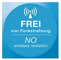 100% frei von Funkstrahlung